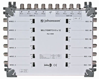 MULTISWITCH CASCADABLE TERMINAL 9 ENTREES 12 SORTIES - 5dB JOHANSSON