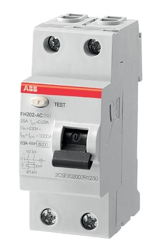 INTERRUPTEUR DIFFERENTIEL FH202 30mA 63A TYPE A AVEC VIS (443161) ABB