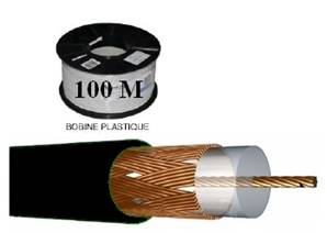 CABLE VIDEO KX 6 CCA 85 % NOIR ELBAC