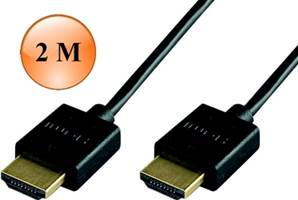 CORDON HDMI 1.4 SLIM NOIR - 4 K /3D PRIVILEGE 2 M ERARD CONNECT
