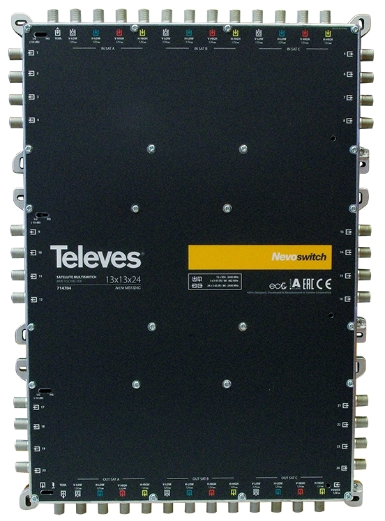 "MULTISWITCH AUTONOME ou CASCADABLE 13x13x24 ""F"" TELEVES"