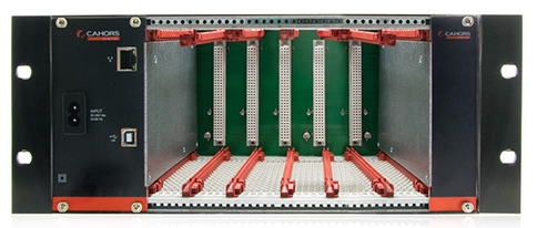 Chassis 5 MODULES + alim pour station modulaire COFDM/IP  CAHORS