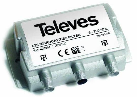"FILTRE MICROCAVITE LTE VHR ""F"" 5-790 MHz TELEVES"