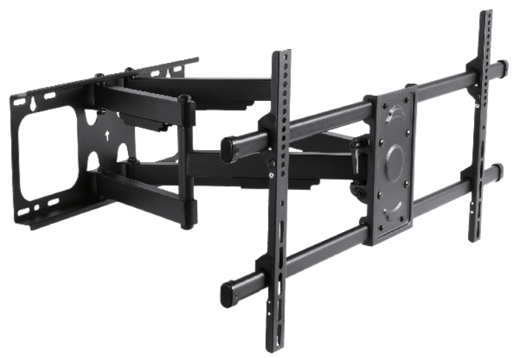 "SUPPORT INCLINABLE ORIENTABLE, 6 ARTICULATIONS, 32"" à 90""- 75 Kg MAX"