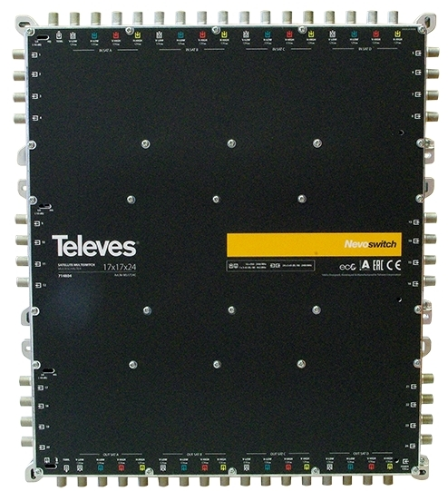 "MULTISWITCH AUTONOME ou CASCADABLE 17x17x24 ""F"" TELEVES"