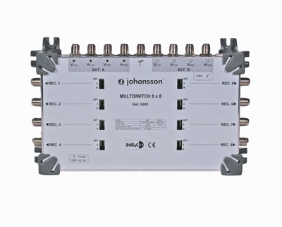 MULTISWITCH CASCADABLE TERMINAL 9 ENTREES 8 SORTIES -5 dB JOHANSSON