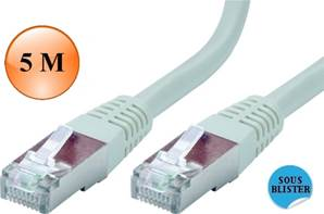 CORDON RJ45 CAT.6 - SSTP - 250 MHz - Mâle / Mâle - PERFORM+  5 M
