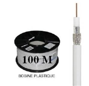 CABLE COAXIAL Ø 6,7 mm, 17 VATC, classe A, BLANC WISI