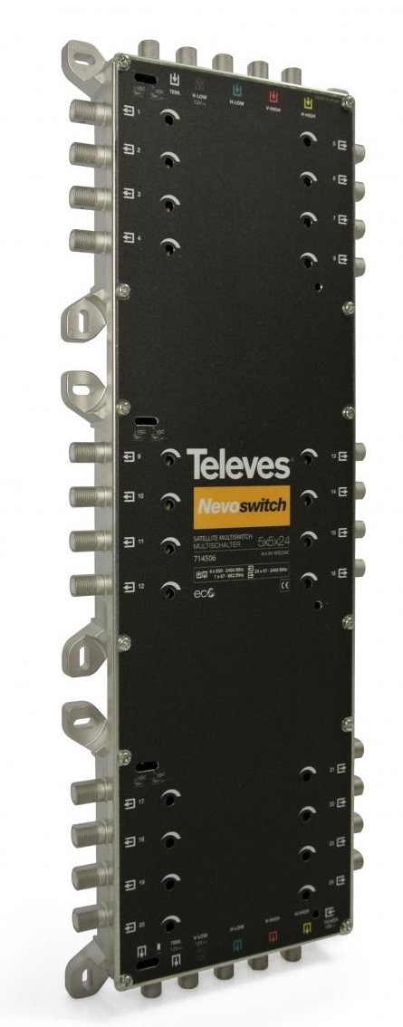 "MULTISWITCH AUTONOME ou CASCADABLE 5x5x24 ""F"" TELEVES"